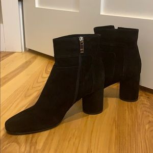 Taryn Rose suede high heeled boots